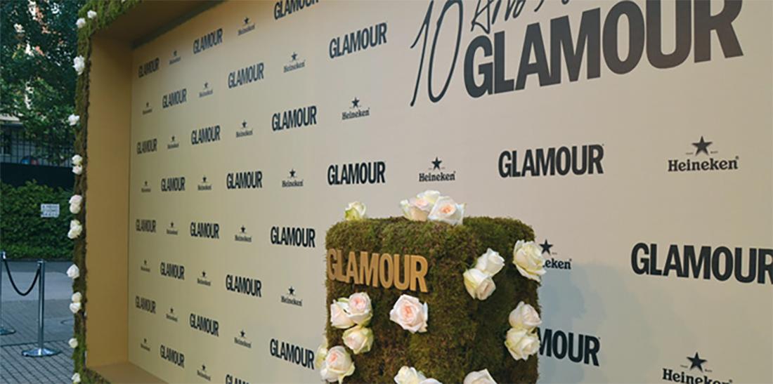gala glamour evento photocall